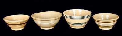 (4) Yellowware Bowls