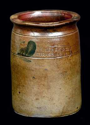 W.H. LEHEW & CO. / STRABURG, VA Stoneware Jar
