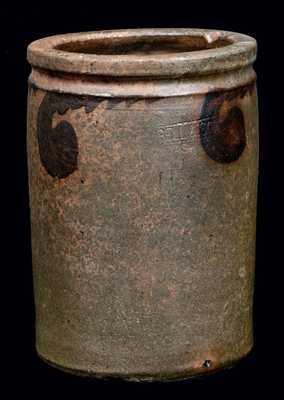 S. BELL & SON / STRASBURG Manganese-Decorated Stoneware Jar