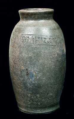 W.H. LEHEW & CO. / STRASBURG, VA Stoneware Canning Jar