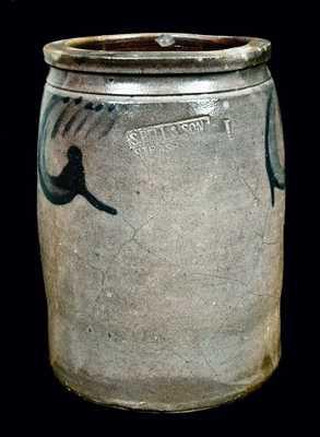 S. BELL & SON / STRASBURG Stoneware Jar