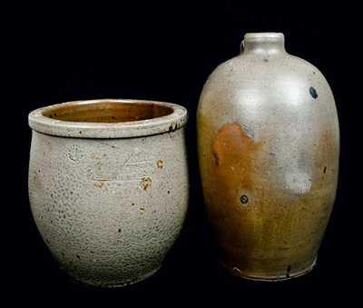 (2) GEO. W. MILLER / STRASBURG, VA Stoneware Pieces