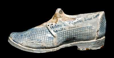 Anna Pottery Shoe Inkwell, Cornwall Kirkpatrick