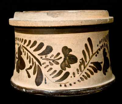 Tanware Butter Crock (New Geneva, Pennsylvania)