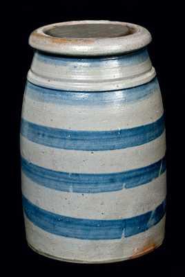 Western Pa Stoneware Jar w/ Tin Lid