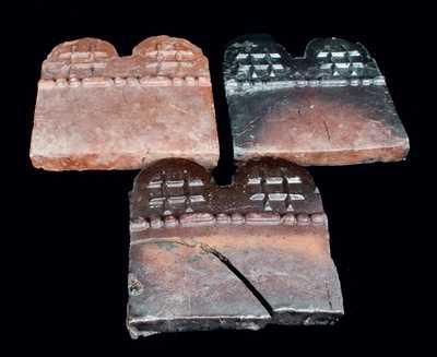 Three Georgia Pottery Slave Tiles