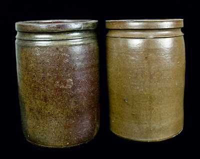 (2) Strasburg, Virginia, Stoneware Jars