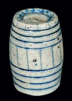Miniature Stoneware Keg Bank (Rare Form)