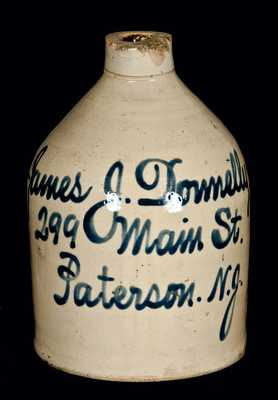 Paterson, NJ Stoneware Advertising Jug (Fulper, Flemington, New Jersey)