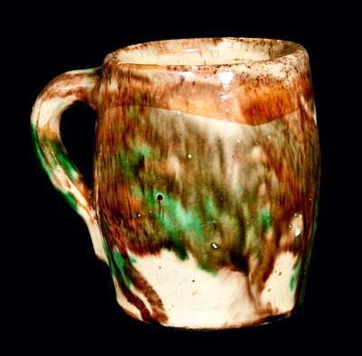 Shenandoah Pottery Mug, Multi-Glazed Redware