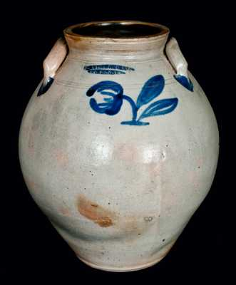 N. CLARK (Athens, New York) Ovoid Stoneware Jar