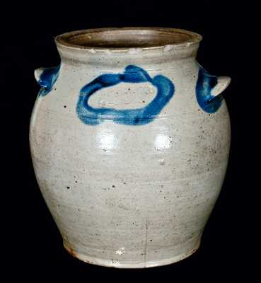 J. MILLER / ALEX (James Miller, Alexandria, VA) Stoneware Jar (Rare Mark)