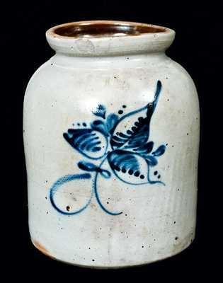 New York Stoneware jar w/ Foliate Design