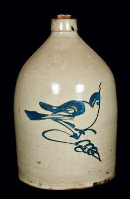 Fulper Pottery (Flemington, NJ) Cobalt Bird Jug