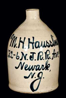 Newark, New Jersey Advertising Jug (Fulper Pottery, Flemington, NJ)