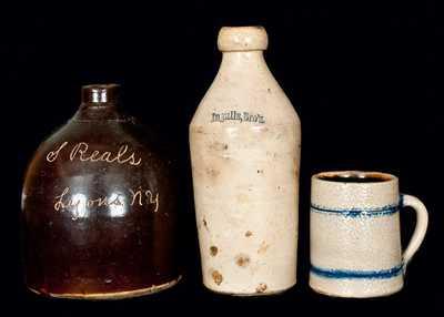 (2) American Stoneware Vessels