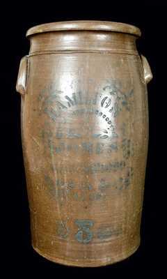 Five-Gallon HAMILTON & JONES / GREENSBORO Stoneware Churn