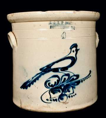 E & L P NORTON / BENNINGTON, VT Bird Crock