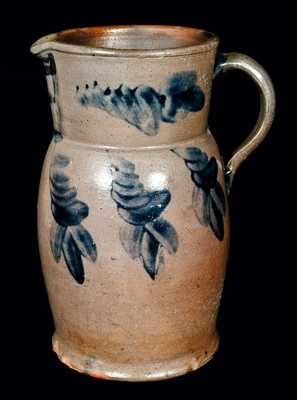 Strasburg, Virginia, Stoneware Pitcher w/ Cross Decoration