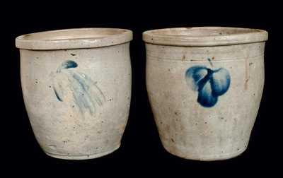 (2) Baltimore Stoneware Cream Jars