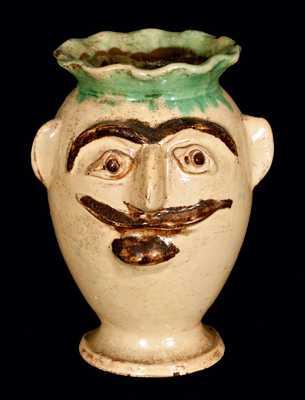 Redware Face Vase