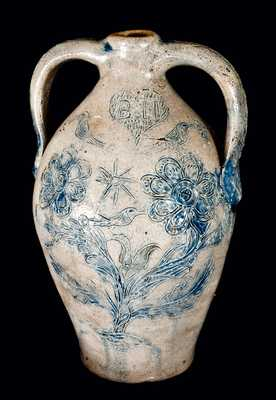 Stoneware Memorial Jug made for a Potter who Drowned