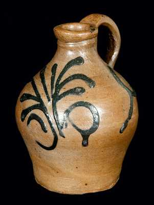 Extremely Early New York City Stoneware Jug, Adam States, c1745