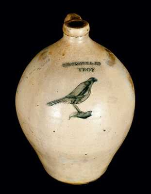I. SEYMOUR & CO. / TROY Incised Bird Jug