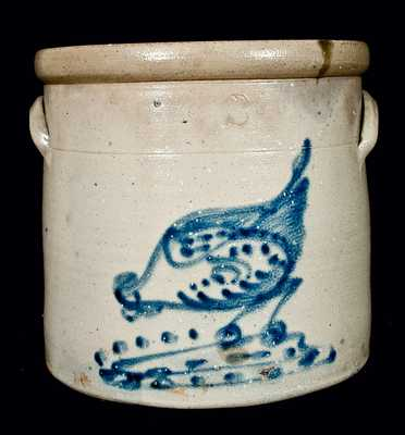 NY Stoneware Crock w/ Chicken Pecking Corn
