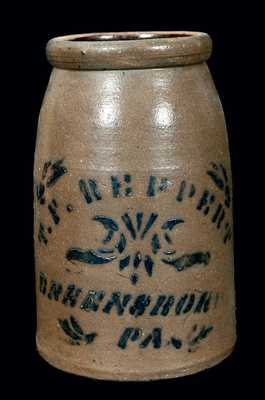 T.F. REPPERT / GREENSBORO / PA Stoneware Canning Jar