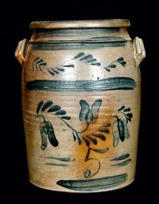 Extremely Rare OFFORD & FEDERER / WEST BROWNSVILLE, PA Stoneware Crock