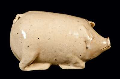 Stoneware Pig Bottle, Midwestern, late 19th century