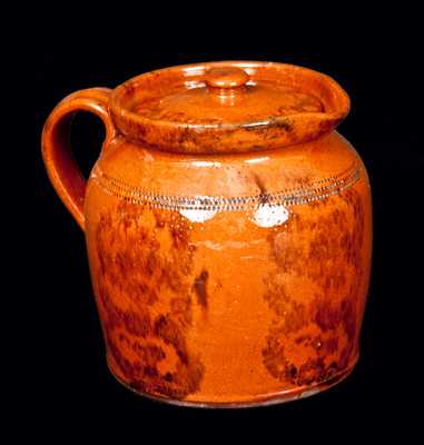 Redware Lidded Batter Pitcher