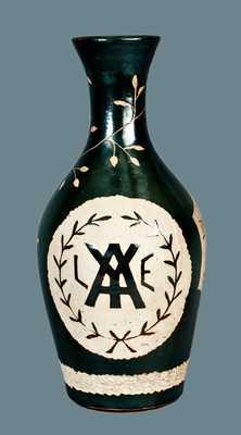 Rare Stoneware Yale University Vase