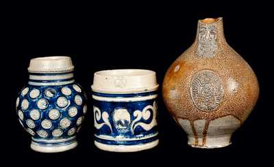 Lot of Three: Damaged German Stoneware Articles