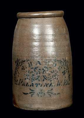 J. M HARDEN / PALATINE, W. VA Stoneware Canning Jar