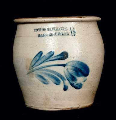 COWDEN & WILCOX / HARRISBURG, PA Stoneware Cream Jar
