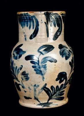 Heavily-Decorated Remmey Philadelphia Stoneware Pitcher