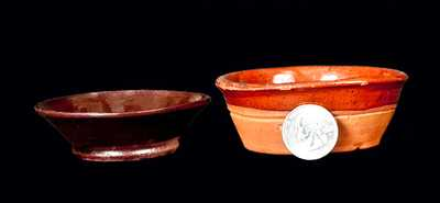 Lot of Two: Miniature Redware Dishes