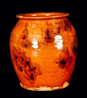 York County, PA Signed Redware Jar