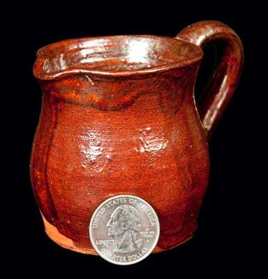 Dated 1906 Indiana Redware Pitcher