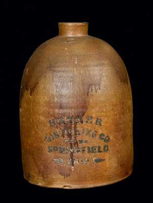 Springfield, Ohio Stoneware Advertising Jug