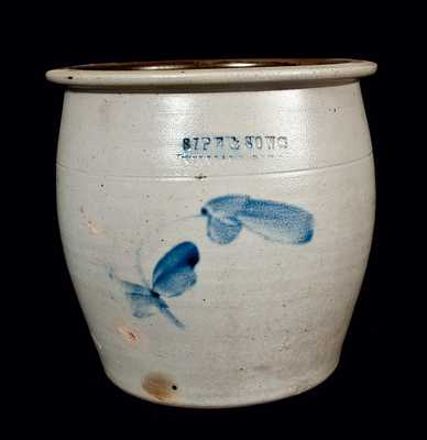 SIPE & SONS, WILLIAMSPORT, PA Stoneware Cream Jar