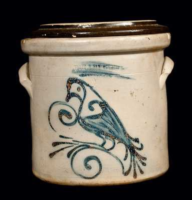 FLACK & VAN ARSDALE Ontario Stoneware Crock with Bird
