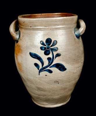 Incised Stoneware Jar, possibly Manhattan, NY, circa 1810
