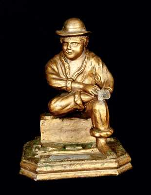 Gold-Painted Statue of Laborer