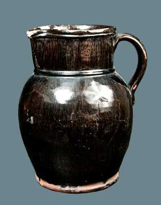 Early Black-Glazed Redware Pitcher