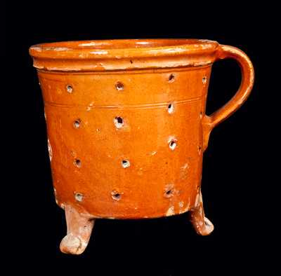 Redware Footed Collander
