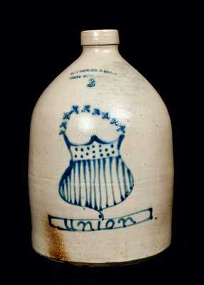 SATTERLEE & MORY / FORT EDWARD, NY Civil War Era UNION Jug