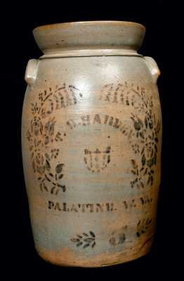 T. D. HARDEN / PALATINE, W. VA 5 Gal. Stoneware Churn